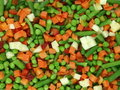 Frozen mixed vegetables Stock Image
