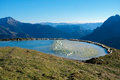 Frozen montain lake mountain in val di scalve alps montains italy Stock Image