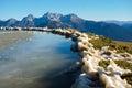 Frozen montain lake mountain in val di scalve alps montains italy Stock Photography