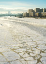 Frozen Moscow River, Embankment, Ministry of Defence, sunny wint