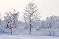Frozen nature beautiful winter landscape with all the trees and fences are from ice Stock Photography
