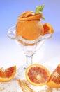 Frozen orange filled by orange sorbet Royalty Free Stock Photo