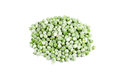 Frozen peas on white green background Royalty Free Stock Image