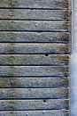 Frozen planks of old pier at winter morning Royalty Free Stock Photo