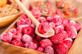 Frozen raspberries Royalty Free Stock Photo
