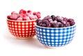 Frozen raspberries and bilberries Royalty Free Stock Photo