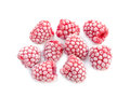 Frozen raspberries ripe isolated on white background Stock Photography