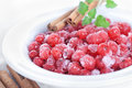 Frozen redcurrant berry Royalty Free Stock Photos