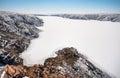 Frozen river in the desert Royalty Free Stock Photo