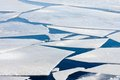 Frozen sea with big ice floes Royalty Free Stock Photography