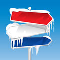 Frozen Signpost (vector) Stock Images