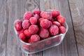 Frozen strawberries Royalty Free Stock Photo