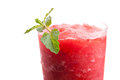Frozen Tropical Strawberry Slushie Stock Photo