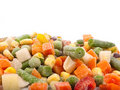 Frozen various vegetables Stock Images