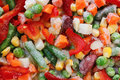 Frozen vegetables. Mexican mix. Macro. 9 Royalty Free Stock Photo