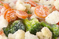 Frozen vegetables mix close up image from fresh Stock Images