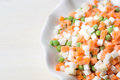 Frozen vegetables on a plate Royalty Free Stock Photo