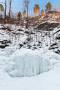 Frozen waterfall Royalty Free Stock Images