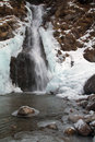 Frozen waterfall at Mascengo Royalty Free Stock Photos