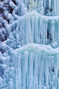 Frozen waterfall in winter a from the cold icy Royalty Free Stock Images