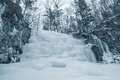 image photo : Frozen waterfall