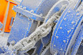 Frozen Winch Gear Stock Image