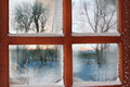Frozen window Royalty Free Stock Photo