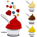 Frozen Yogurt With Toppings Royalty Free Stock Photo