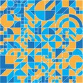 Seamless geometric colorful flat pattern