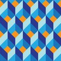 Seamless geometric colorful vector flat pattern