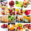 Frucht-Collage Stockfotografie