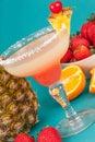 Fruit alcoholic drink Royalty Free Stock Photo