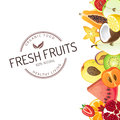 Fruit background bright with fresh fruits Stock Photos