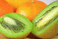 Kiwi Orange Fruit Background Royalty Free Stock Photo
