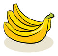 Fruit banana color abstract illustration Stock Photos