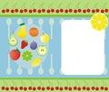Fruit banner Royalty Free Stock Image
