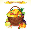 Fruit Basket Stock Images