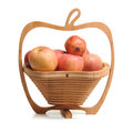 Fruit basket folding type full of fruits Royalty Free Stock Image