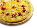 Fruit and Berry Pizza Stock Images