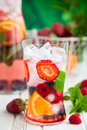 Fruit and berry punch Royalty Free Stock Photo