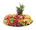 Fruit buffet platter Royalty Free Stock Photo