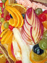 Fruit cake assortment with fruits and color Royalty Free Stock Image