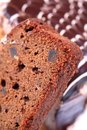 Fruit cake macro Royalty Free Stock Photos
