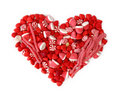 Fruit candy heart Royalty Free Stock Photos