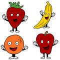 Fruit Cartoon Characters Royalty Free Stock Photos