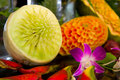 Fruit carving Royalty Free Stock Photo