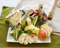 Fruit And Cheese Platter Stock Photography