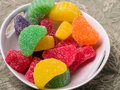 Fruit Chew Candies Bowl Stock Image