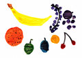 Fruit children s drawing illustration of a Royalty Free Stock Photography