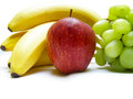Fruit composition of isolated over white Stock Photography